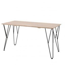 Pracovný stôl z masívneho borovicového a brezového dreva Vipack William, 70×75 cm