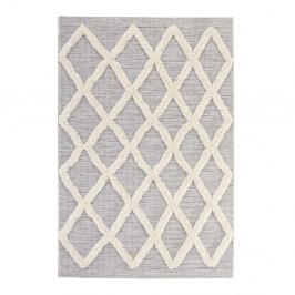 Sivý koberec Mint Rugs Handira Grid, 150×77 cm