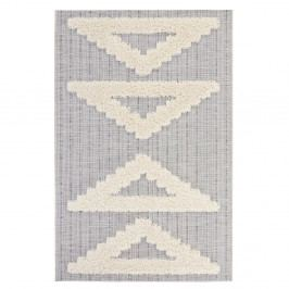Sivý koberec Mint Rugs Handira Triangles, 170 × 115 cm