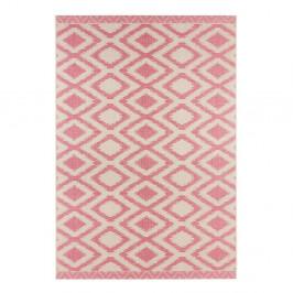 Ružovo-sivý koberec vhodný aj do exteriéru Kalora, 180×280cm