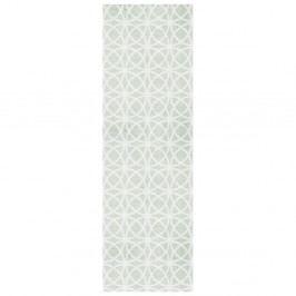 Zelený behúň Zala Living Magic Ornament, 50×150 cm