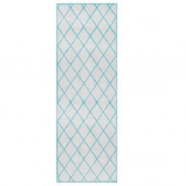 Sivo-modrý behúň Zala Living Magic Scale, 50×150 cm