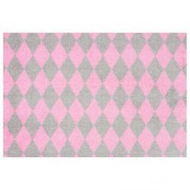 Ružovo-sivá rohožka Zala Living Circus, 50×70 cm