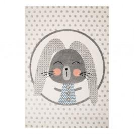 Béžový detský koberec so sivými detailmi Zala Living Rabbit, 120×170cm