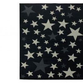 Detský čierny koberec Hanse Home Stars, 140×200 cm