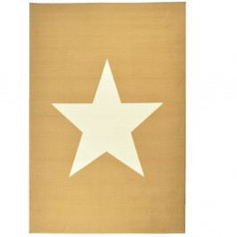 Detský krémovohnedý koberec Hanse Home Star, 140×200 cm