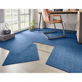 Sada 20 štvorcov modrého koberca Hanse Home Easy, 50×50 cm