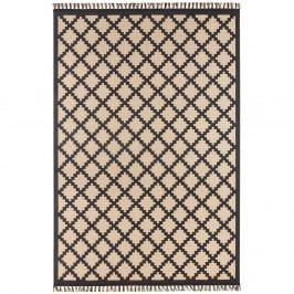 Béžovo-čierny koberec Hanse Home Intense Duro, 80×150 cm