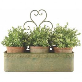 Zelený nástenný kvetináč Esschert Design Arles