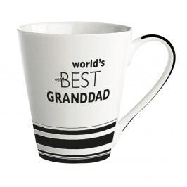 Porcelánový hrnček KJ Collection World's Best Granddad, 300 ml