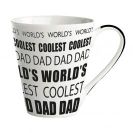 Porcelánový hrnček KJ Collection World's Coolest Dad, 300 ml