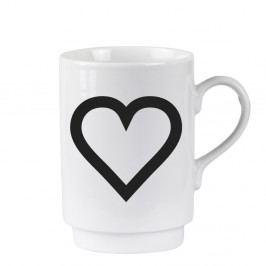 Porcelánový písmenkový hrnček KJ Collection Heart, 250 ml