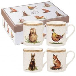 Set 4 ks hrnčekov Churchill China Wildlife, 250 ml