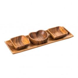 Servírovacie misky s podnosom z agátového dreva Premier Housewares Socorro