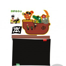 Set tabuľovej samolepky a popisovacej fixky Fanastick Pirate