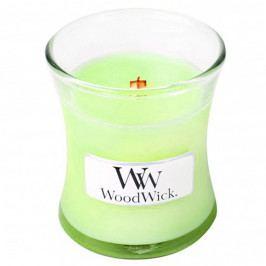 Sviečka s vôňou mäty, bazalky a ružového dreva Woodwick, doba horenia 20 hodín