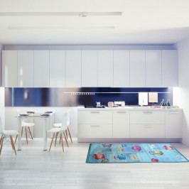 Vysokoodolný kuchynský koberec Webtapetti Pots, 60 x 190 cm