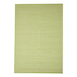 Zelený vysokoodolný koberec vhodný do exteriéru Floorita Braid, 160×230 cm