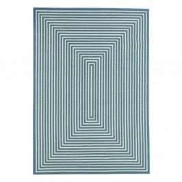 Svetlomodrý vysokoodolný koberec vhodný do exteriéru Floorita Braid, 133×190 cm