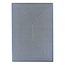 Modrý vysokoodolný koberec vhodný do exteriéru Floorita Braid, 160×230 cm