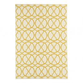 Svetlý vysokoodolný a umývateľný koberec vhodný do exteriéru Interlaced, 160×230 cm