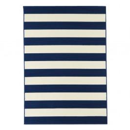 Modrý vysokoodolný koberec vhodný do exteriéru Floorita Stripes, 133×190 cm