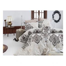 Bavlnené obliečky s plachtou a 2 obliečky na vankúše Luxy, 200×220 cm