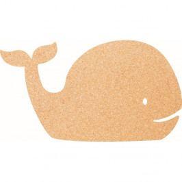 Korková nástenka s pripináčikmi Securit Whale, 30×45 cm