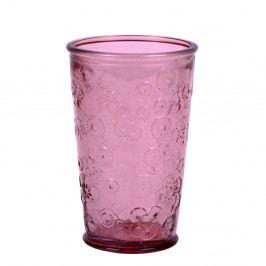 Ružový pohár z recyklovaného skla Ego Dekor Flora, 300 ml