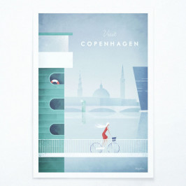 Plagát Travelposter Copenhagen, A3