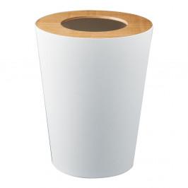 Biely odpadkový kôš YAMAZAKI Rin Round