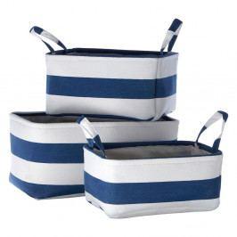 Sada 3 úložných modro-bielych košíkov Premier Housewares Sailor