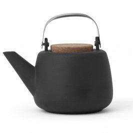 Tmavosivá čajová kanvička so sitkom a matným povrchom Viva Scandinavia Nicola, 1 l