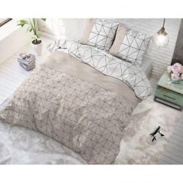 Hnedo-biele obliečky z mikroperkálu Sleeptime Gino, 200 x 220 cm