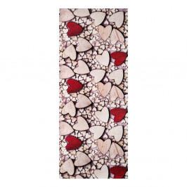 Vysokoodolný koberec Webtappeti Cuori, 58×80cm