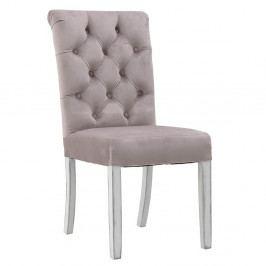 Ružová jedálenská stolička InArt Gemma