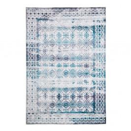 Koberec odolný voči škvrnám Floorita Kilim Ivory Aqua, 120×180 cm