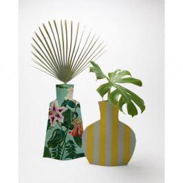 Sada 2 kvetináčov Surdic Flower Vases Turquoise Flowers