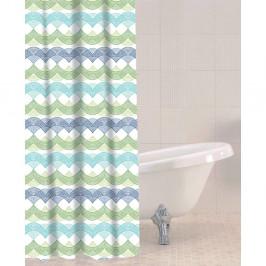 Sprchový záves Sabichi Waves, 180 x 180 cm