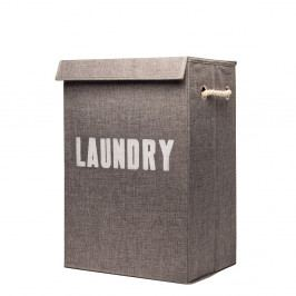 Sivý skladací kôš na špinavé prádlo Sabichi