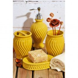 Žltý keramický kúpeľňový set