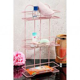 Ružový kúpeľňový stojan Bubbles, 31×50 cm