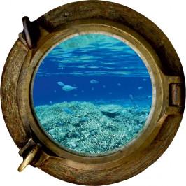 Dekoratívna samolepka na stenu Oceán, 33×33 cm