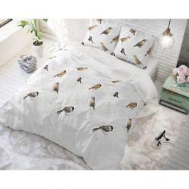 Bavlnené posteľné obliečky Sleeptime Birdy, 140 x 220 cm