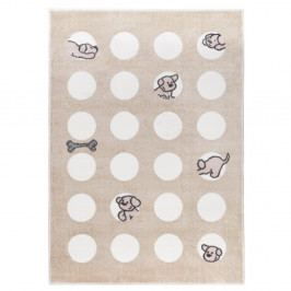 Béžový koberec Mazzini Sofas Puppy, 160×230 cm