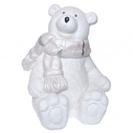 Biela keramická dekoratívna soška Ewax Polar Bear, výška 36 cm