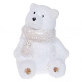 Biela keramická dekoratívna soška Ewax Polar Bear, výška 10 cm