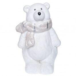 Biela keramická dekoratívna soška Ewax Polar Bear, výška 39 cm
