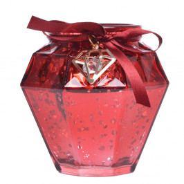 Červený sklenený svietnik Ewax, výška 9 cm