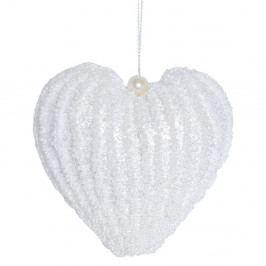 Závesná biela dekorácia Ewax Corazon